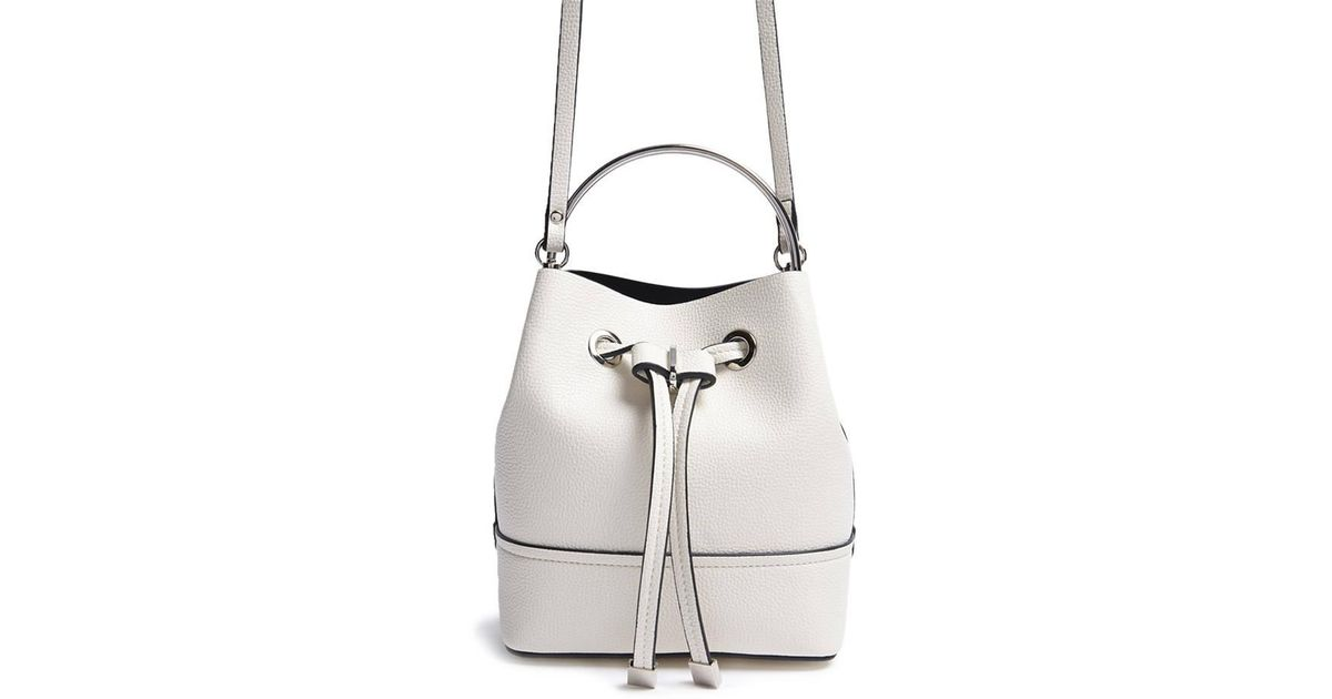 35a7c14d0498 Lyst - Forever 21 Mini Faux Leather Bucket Bag in White