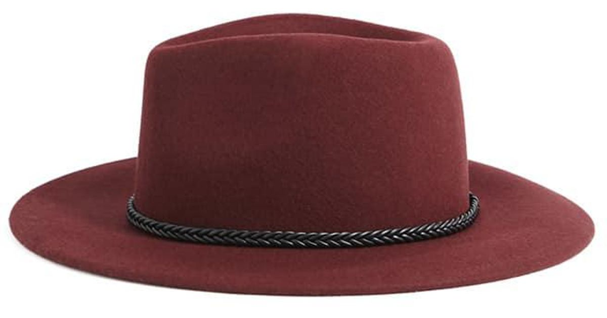 3e9c12d4f92 Lyst - Forever 21 Wool Braid-band Fedora in Red