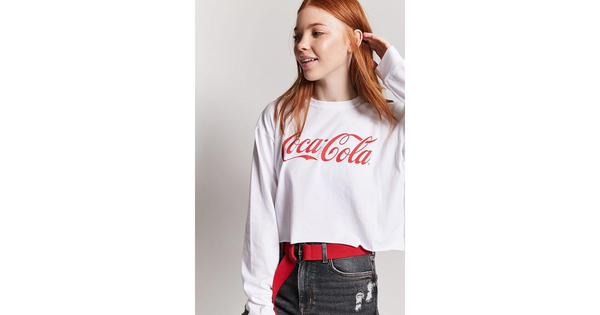 b6a78762ae0 Forever 21 Coca-cola Graphic Logo Tee in White - Lyst