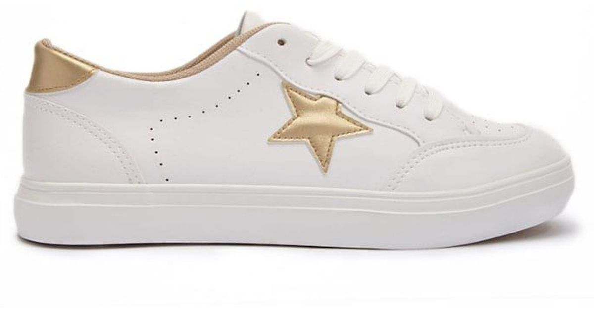 new product 87620 01bd6 Forever 21 Star Low-top Tennis Shoes in White - Lyst