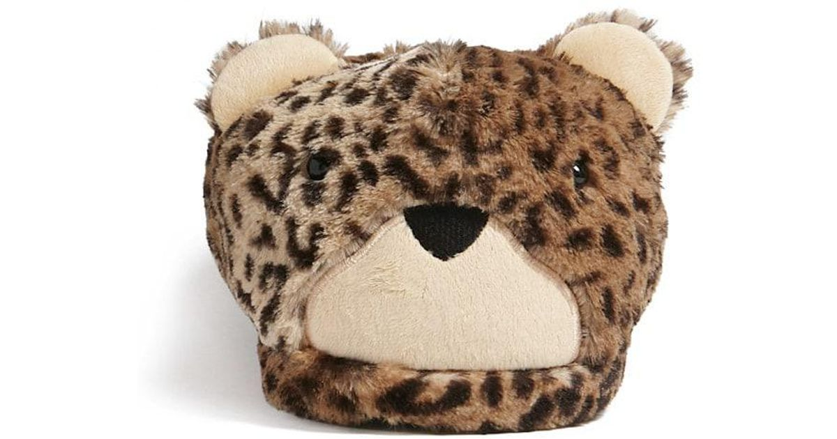 8737868bf Lyst - Forever 21 Cheetah Indoor Slippers in Brown