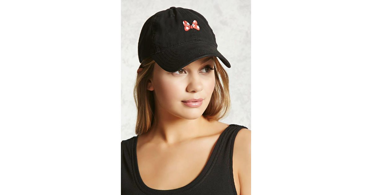 a1c47214 Forever 21 Minnie Mouse Baseball Cap in Black - Lyst