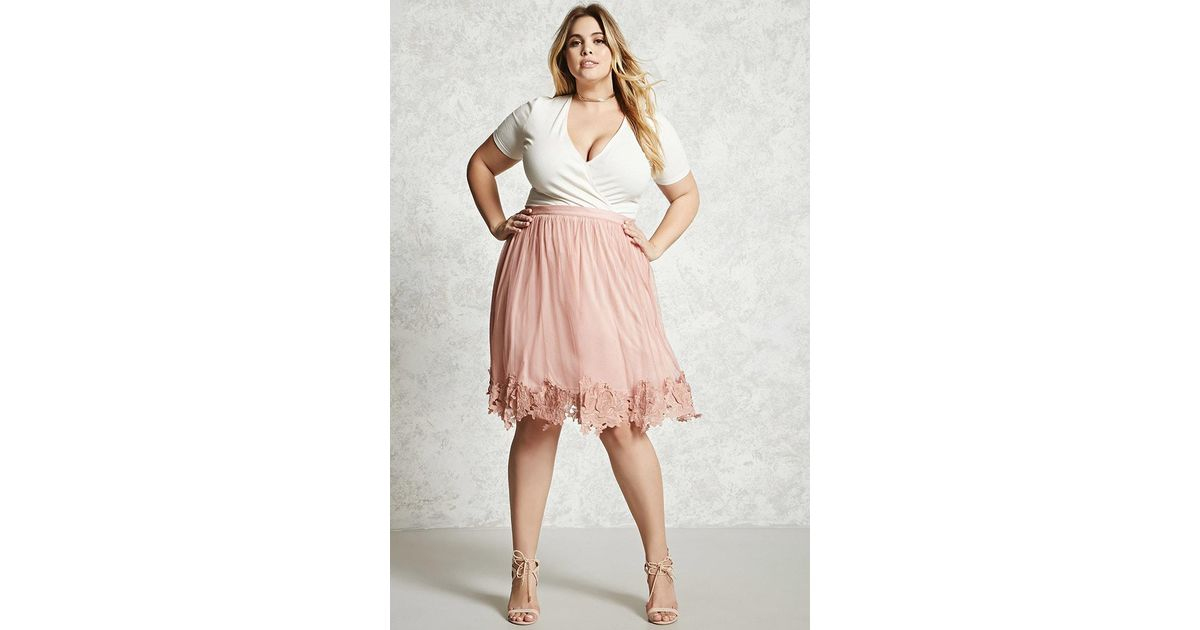 Forever 21 Purple Plus Size Tulle Skirt