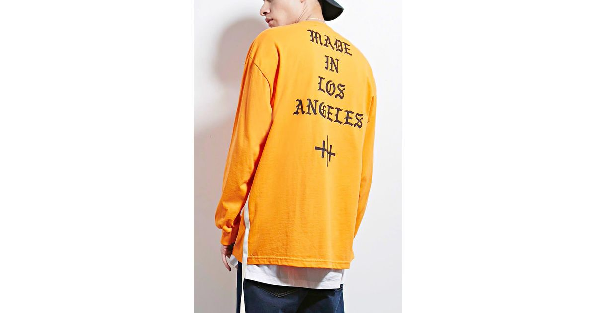 8f5c8bdb0 Lyst - Forever 21 Sdc Made In La Graphic Tee in Orange for Men