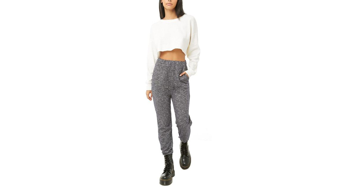 Forever 21 Womens Marled Knit Joggers Pants