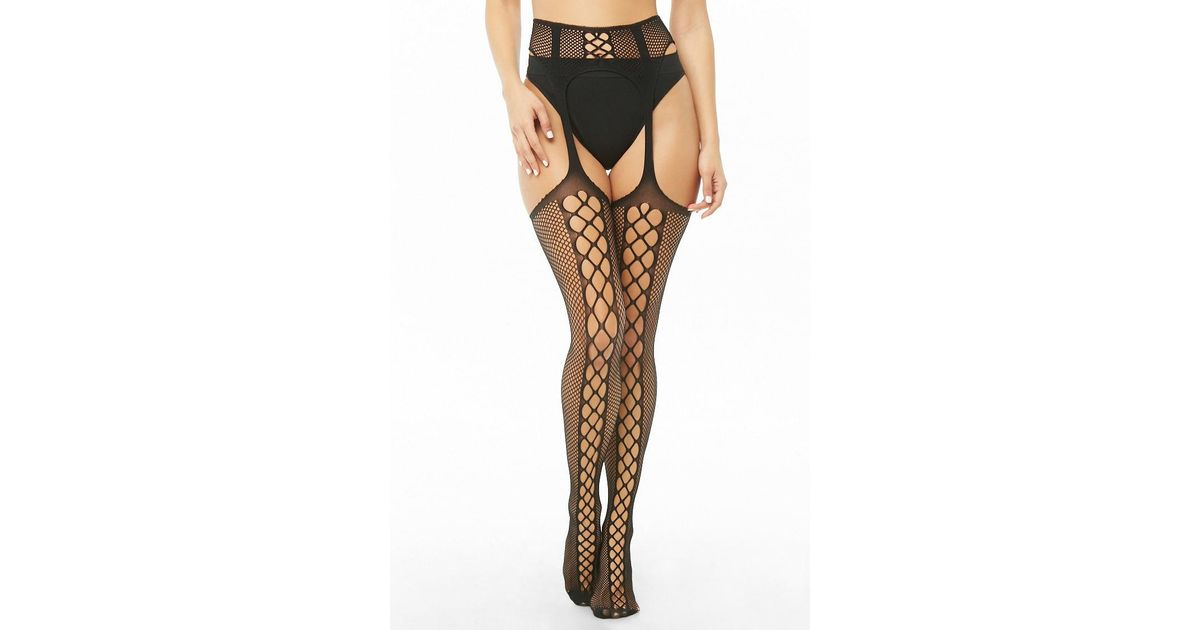 Leg Avenue Womens Lace Top Sheer Stockings with Backseam and Attached Garter Belt