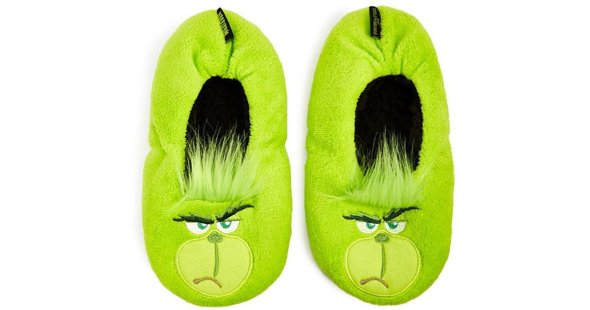 Forever 21 The Grinch Slippers in Green