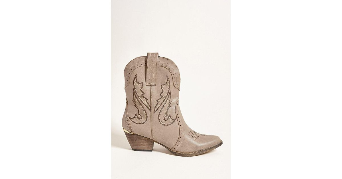 f150448cdd2 Forever 21 Natural Very Volatile Cowboy Boots