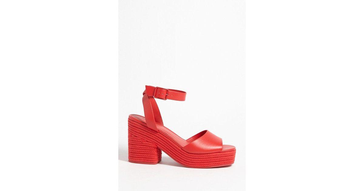3255c6970a Forever 21 Espadrille Platform Heels in Red - Lyst