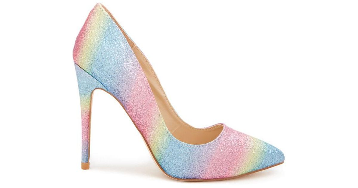 Forever 21 Glitter Rainbow Pumps in