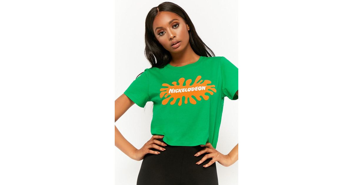 Forever 21 Green Nickelodeon Graphic Tee