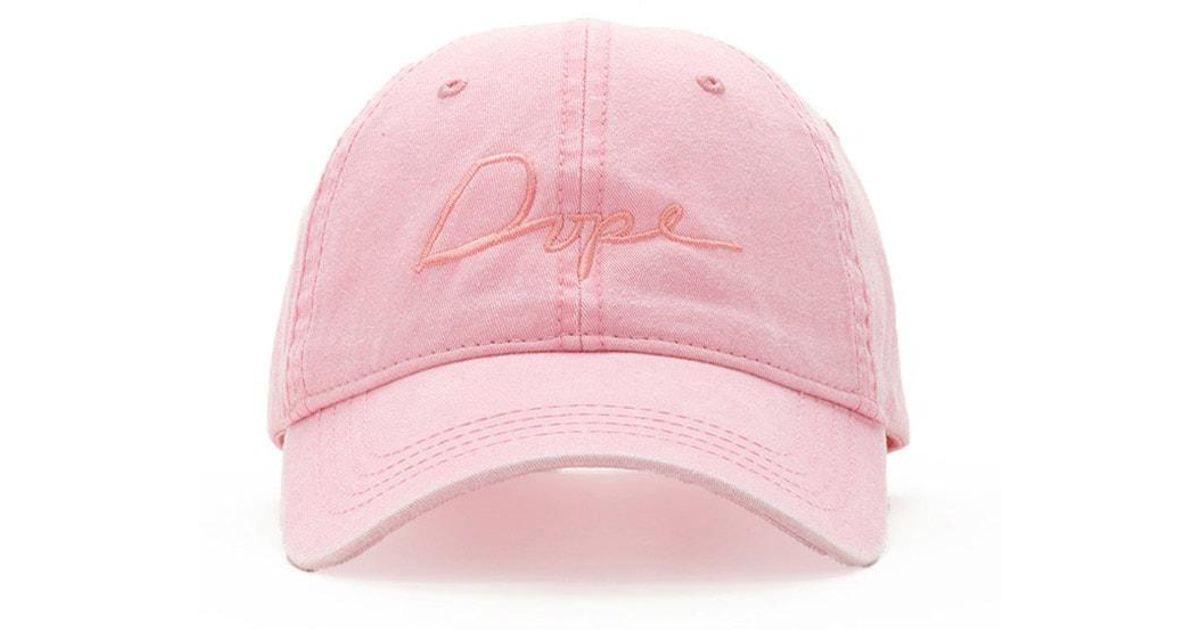 f41d7773e Forever 21 Dope Tonal Script Baseball Cap in Pink - Lyst