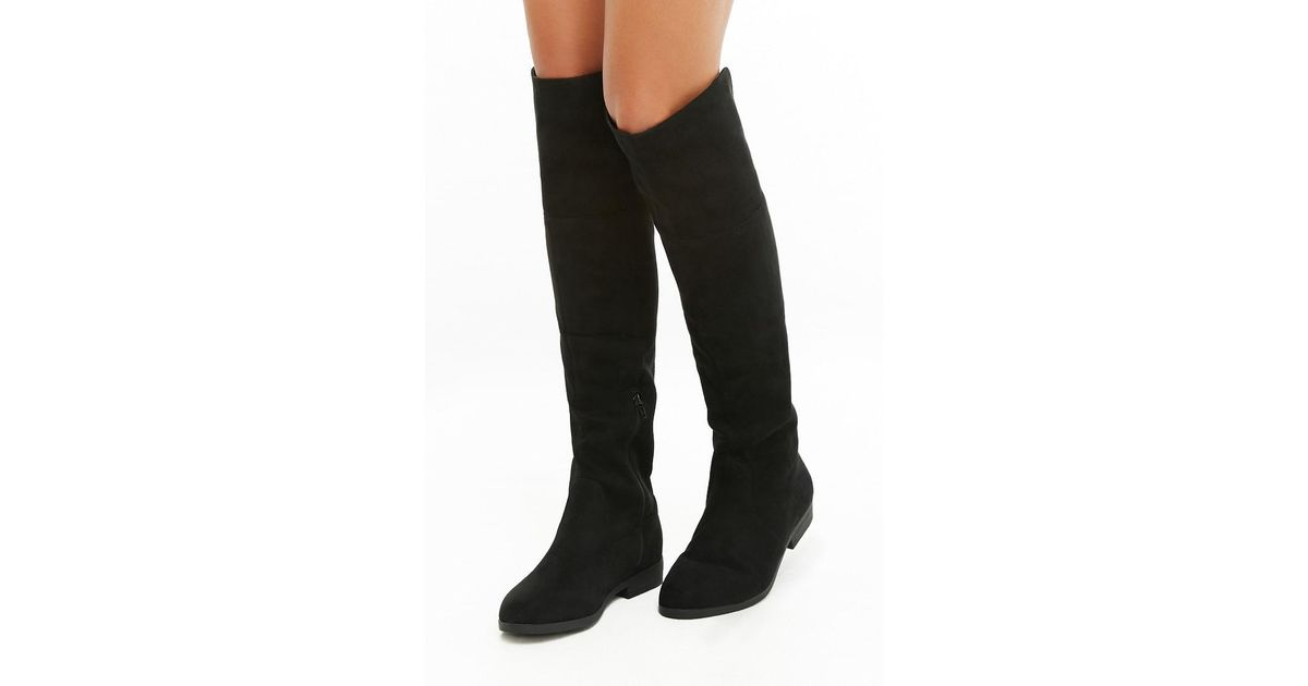 61b12be774 Lyst - Forever 21 L4l By Lust For Life Lace-up Boots in Black