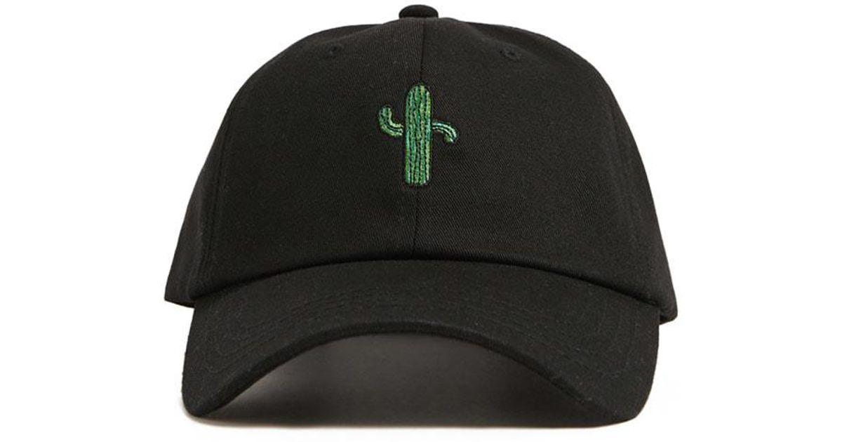 1862df92b3d Lyst - Forever 21 Men Cactus Graphic Dad Cap in Black for Men