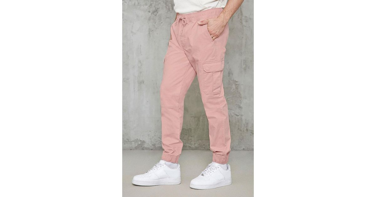 Lyst - Forever 21 Cotton Cargo Joggers in Pink for Men 02f134326