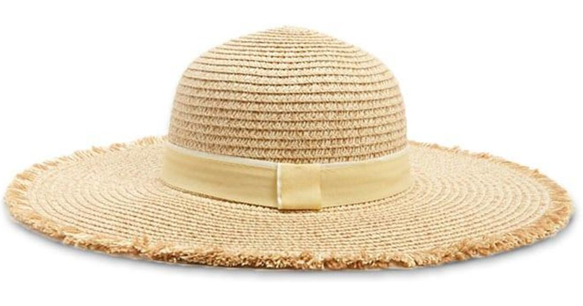 Forever 21 Frayed-brim Straw Hat in Natural - Lyst 820760fb7576