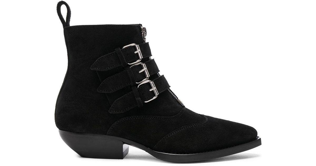 De Haute Qualité À Vendre Saint Laurent Black Suede Theo Boots Grande Vente authentique De Haute Qualité En Ligne Collections De Sortie FOEbjggHj