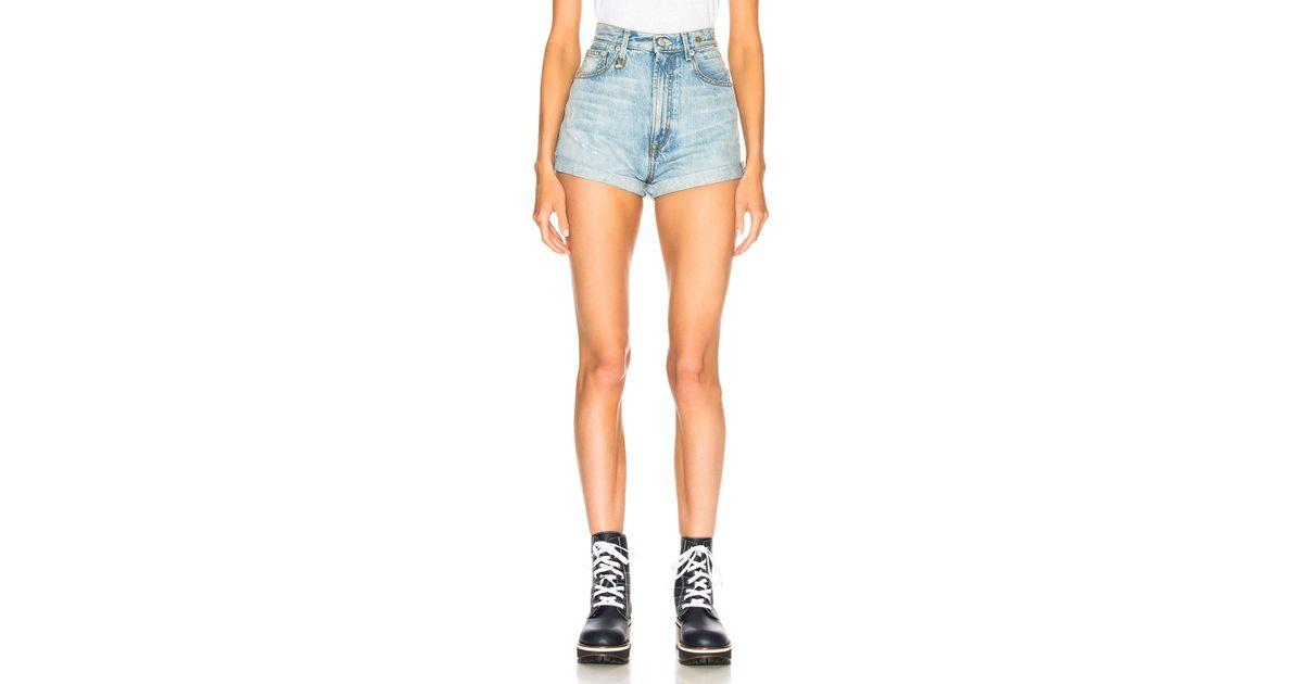 Womens Hailey Denim Shorts R13 Factory Sale w8YFcG