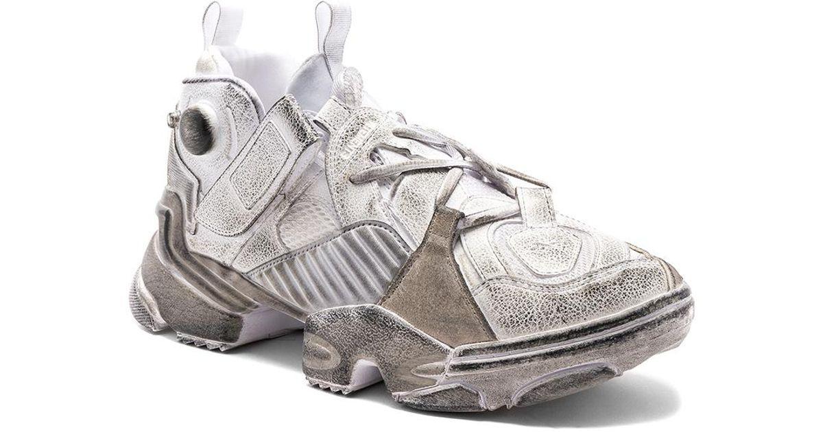 54da700fe6bb22 Lyst - Vetements Genetically Modified Pump Sneakers in White