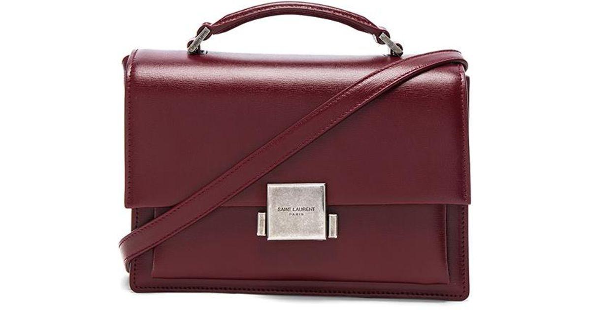2b3f401a55 Saint Laurent Purple Medium Bellechasse Schoolbag