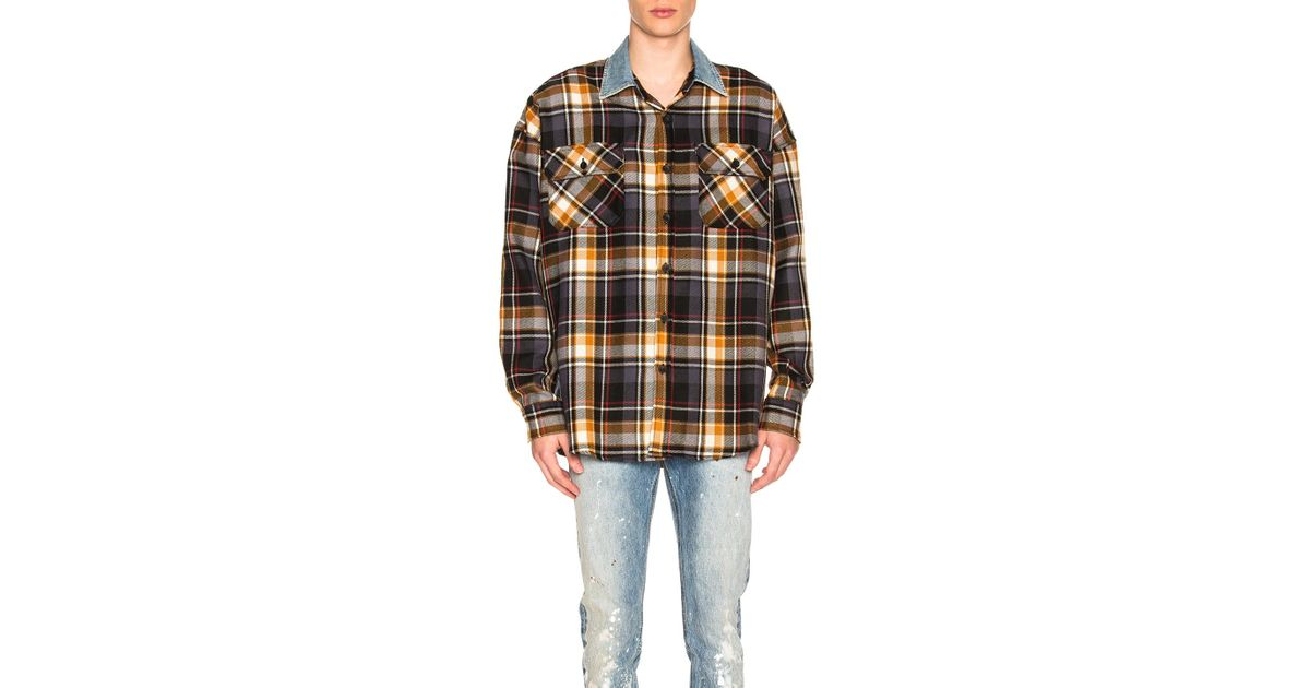 3f554882be Lyst - Fear Of God Denim Collared Oversized Flannel