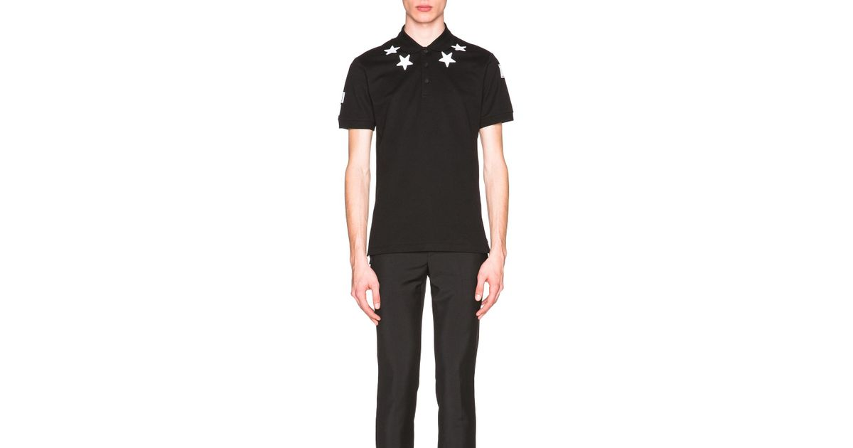 0b62c8dc Givenchy Cuban Fit Star Collar 74 Polo in Black for Men - Lyst