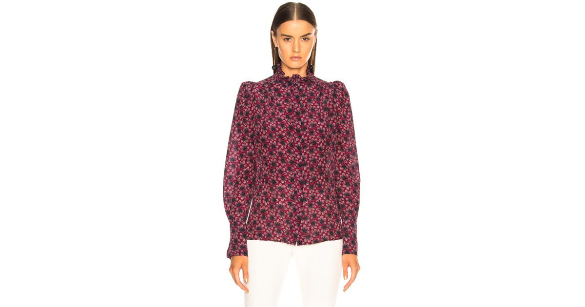 4c022d0fc3310 Lyst - Isabel Marant Lamia Top in Blue - Save 51%