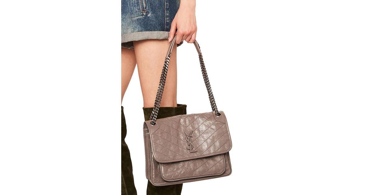 65177b70e50c7 Lyst - Saint Laurent Medium Niki Monogramme Chain Bag