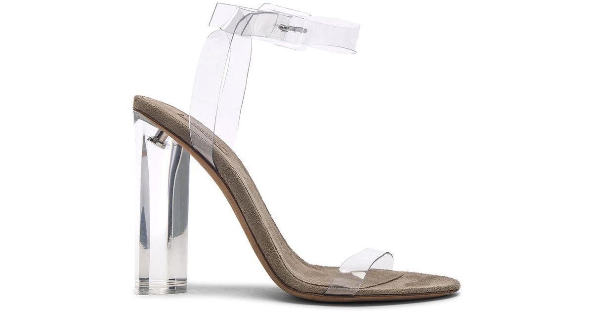 63c89d277cb Lyst - Yeezy Season 6 Ankle Strap Pvc Heels
