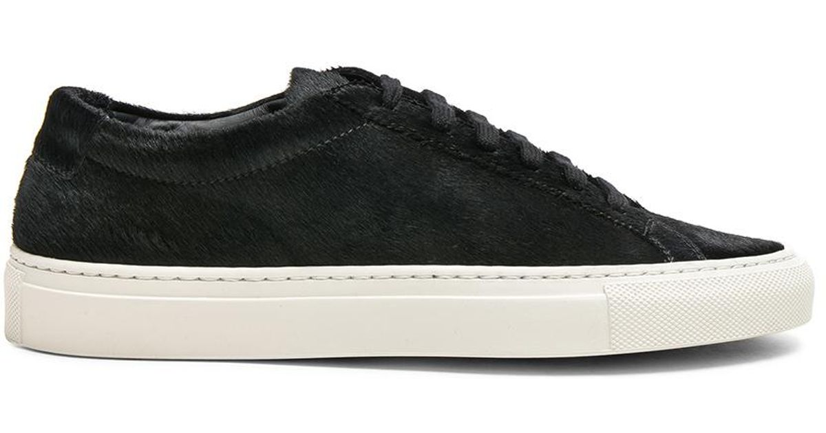 4a31a77e0b3ad Lyst - Common Projects Original Calf Hair Achilles Low in Black