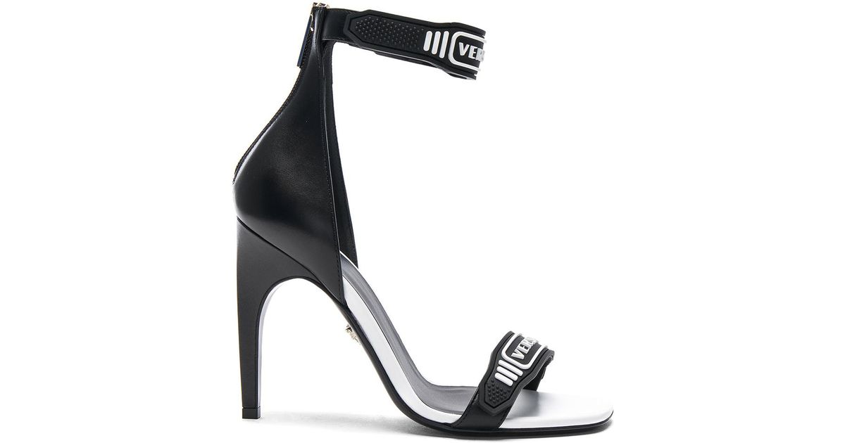 Versace Logo Ankle Strap Leather