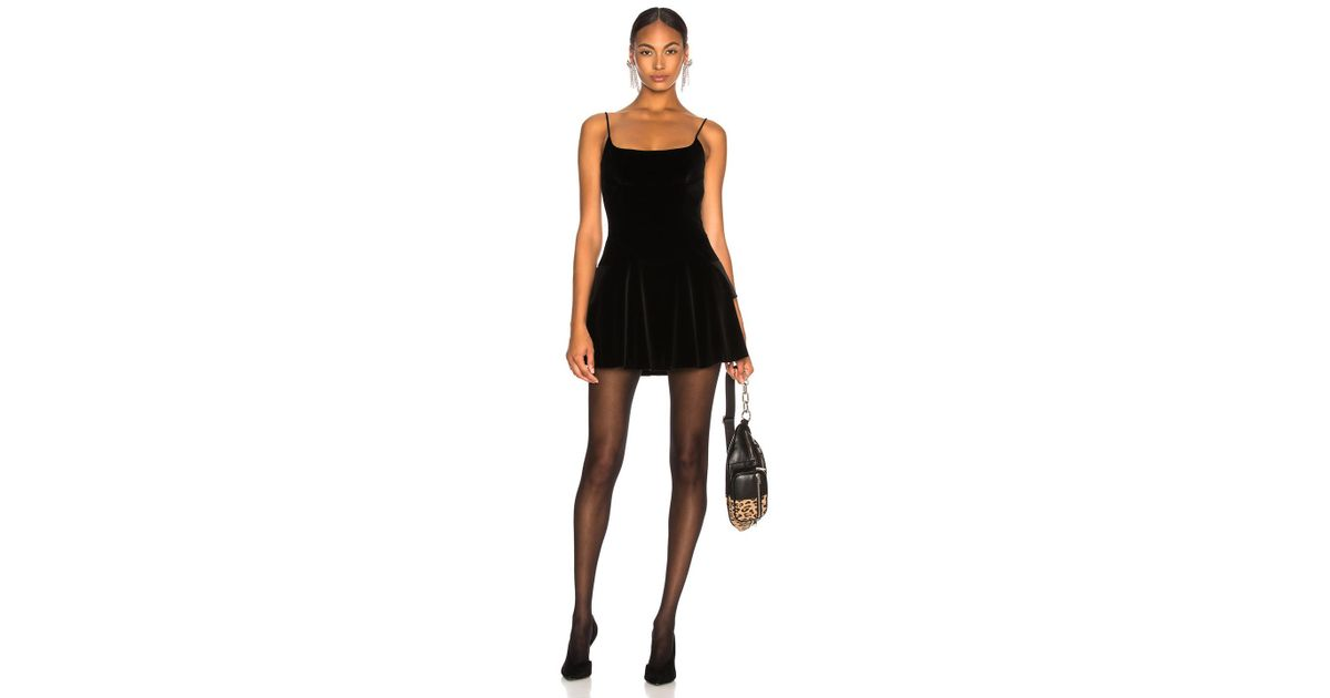 4291a7557bb Lyst - Alexander Wang Velvet Fit And Flare Mini Dress in Black
