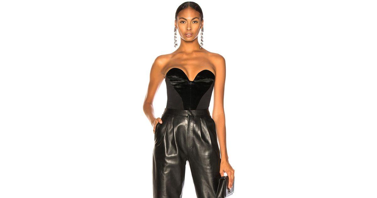 2d654d05a4a2a Lyst - Carmen March Velvet Sweetheart Top in Black