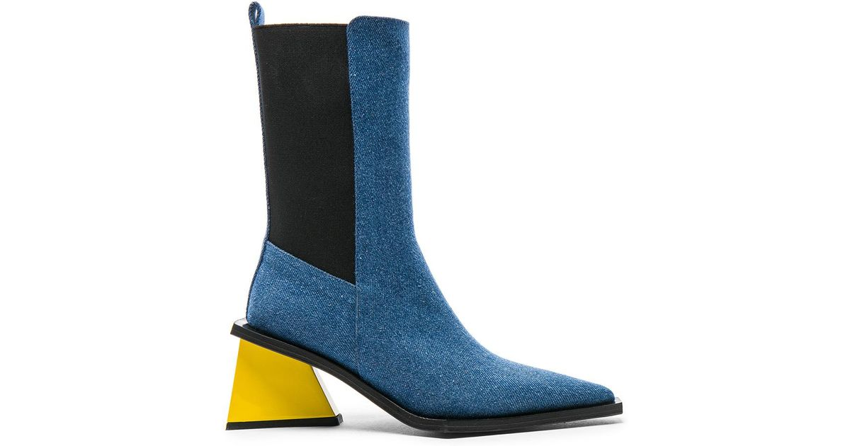 Thigh suede and leather two-tone boots Marques Almeida aTVxO