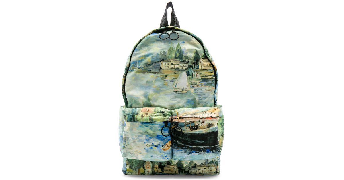 Lyst - Off-White c o Virgil Abloh Lake Backpack in Green for Men 2623081e986e8