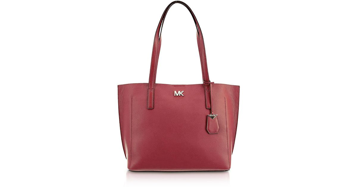 667d0e702144 Lyst - Michael Kors Pebbled Leather Ana Medium Ew Bonded Tote Bag in Red