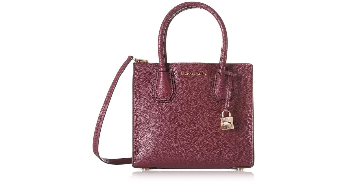 5d6fcce0479d Michael Kors Mercer Medium Mulberry Pebble Leather Crossbody Bag in Purple  - Lyst