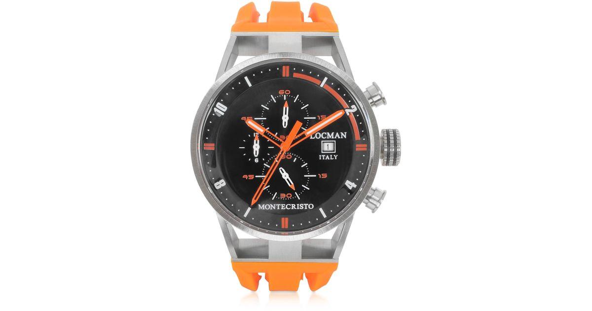 7ddd6a568997 Montecristo Reloj para Hombre de Acero Inoxidable y Titanio con Correa de  Silicona Naranja LOCMAN de hombre - Lyst