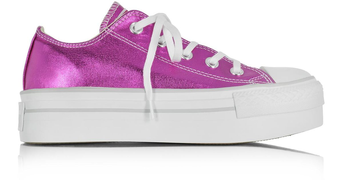 aeafd5201b2b Converse Women s Purple Pvc Sneakers in Purple - Lyst