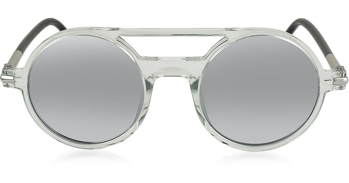 39f052bd1d Lyst - Marc Jacobs Marc 45 s Acetate Round Aviator Women s Sunglasses in  Gray