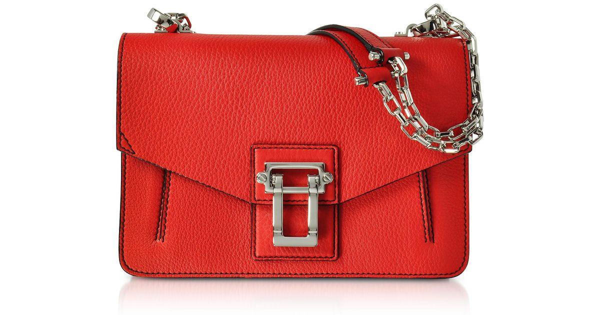 Hava Chain Shoulder Bag in Black Lindos Leather Proenza Schouler v0nMLF