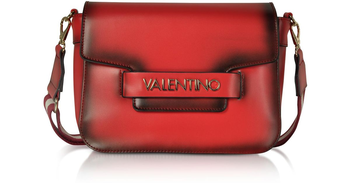 256c976b7a7f Lyst - Valentino By Mario Valentino Eco Leather Blast Shoulder Bag W canvas  Strap in Red