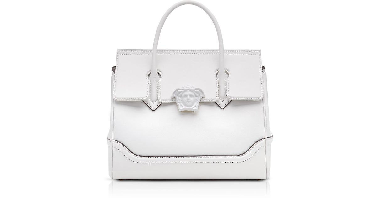 Versace Palazzo Empire Large Top Handle Bag in White - Lyst ab00807f8c533