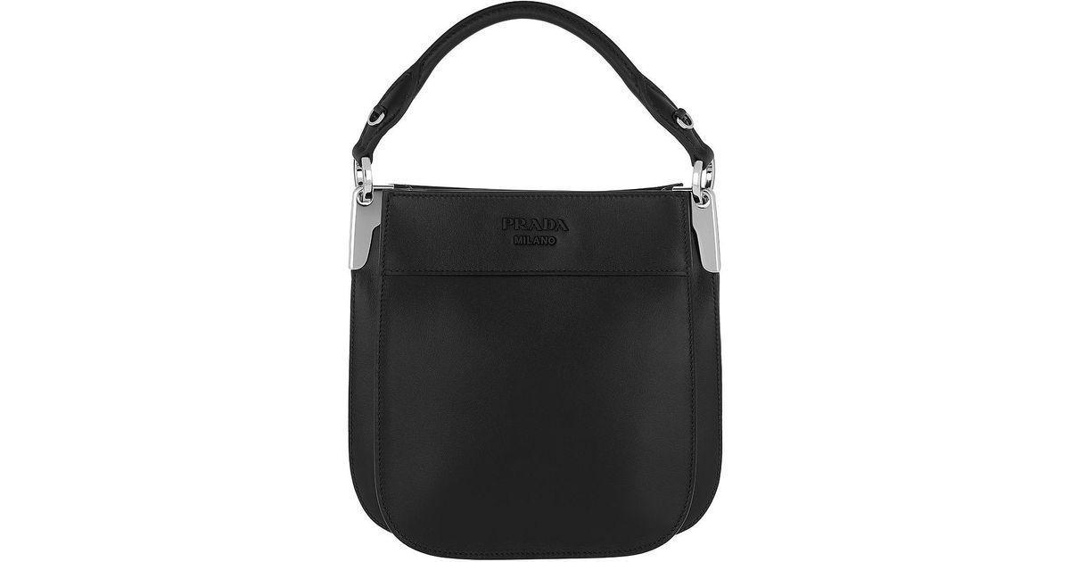 e06df491ddc1 Lyst - Prada Margit Leather Bag Small Black in Black