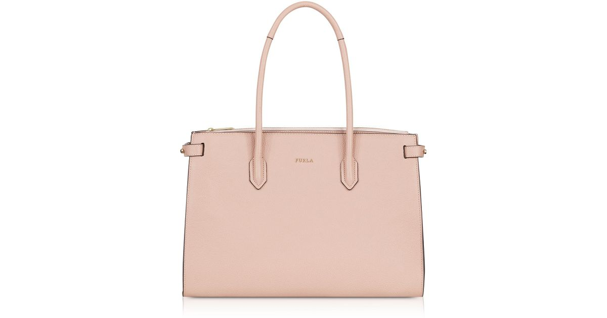 b92670cd243d Lyst - Furla Women s Pink Leather Tote in Pink