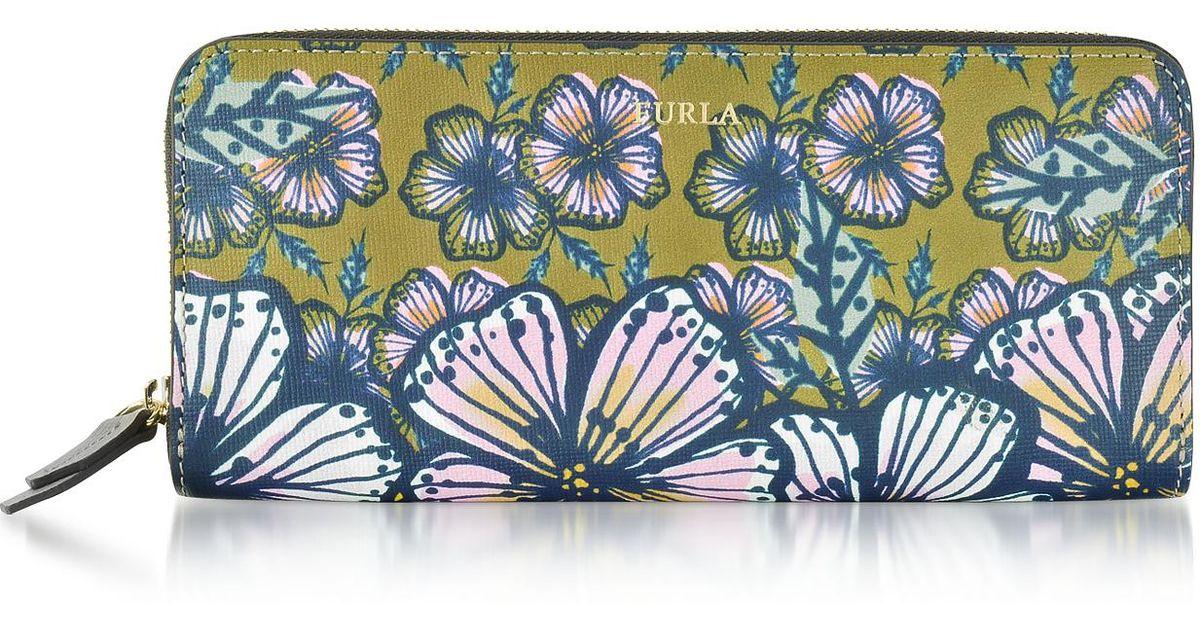 Furla Handbags, Brughiera and Cocorita Gioia XL Zip Around Saffiano Leather Wallet