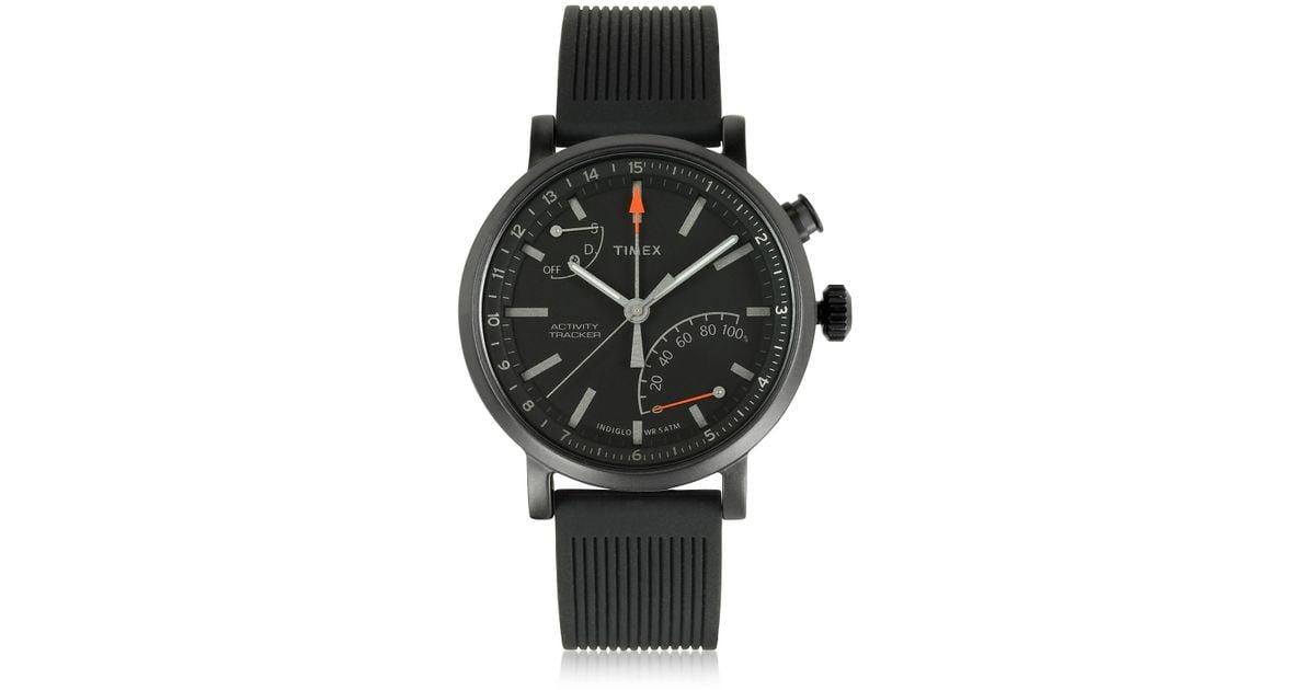 00fcd8012718 Metropolitan Reloj para Hombre Negro con Correa Intercambiable Timex de  hombre de color Negro - Lyst
