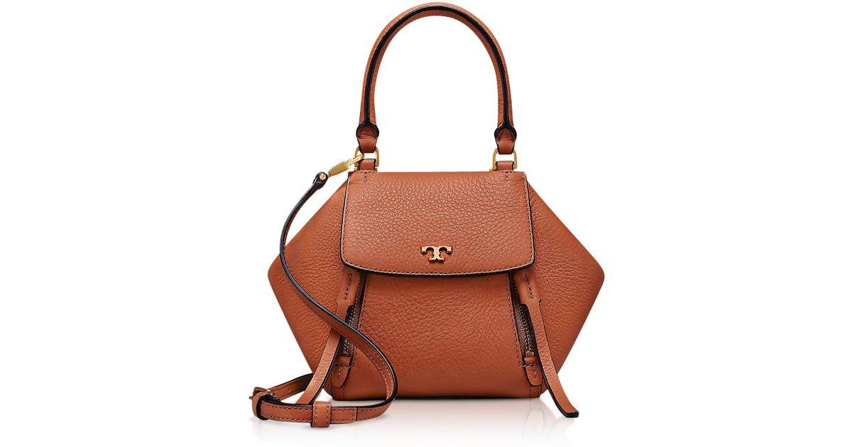 eee0bdb016a2 Lyst - Tory Burch Half-moon Micro Satchel Bag in Brown