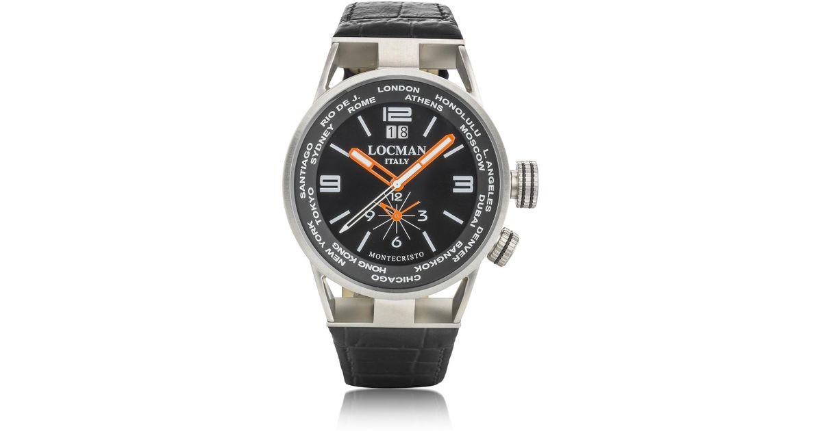 a4609670a7ec Lyst - Montecristo Reloj para Hombre de Acero Inoxidable y Titanio con  Correa de Cuero LOCMAN de hombre de color Metálico