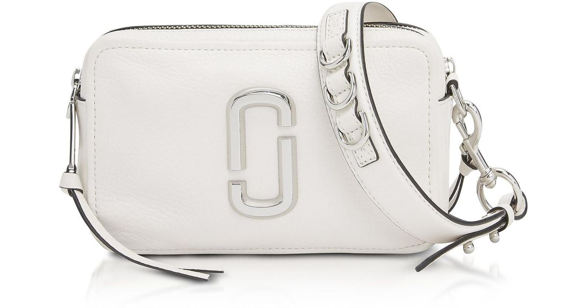 cb704f63408b Lyst - Marc Jacobs The Softshot 21 Shoulder Bag in White - Save 22%